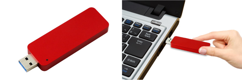 ITPROTECH外付スティックSSD JUST RED Edition M2USBF120-JUST/M2USBF240-JUST アイティプロテック